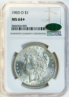 1903-O $1 NGC MINT STATE 64 CAC