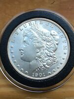 1901-O MORGAN VAM15 - 2 OLIVE REVERSE/90 DENTICLES SILVER UNCIRCULATED COIN