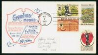 MAYFAIRSTAMPS US FDC 1969 GRANDMA MOSES ARTOPAGES FIRST DAY