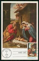 MAYFAIRSTAMPS US FDC 1970 NATIVITY PAINTING MAXIMUM FIRST DA
