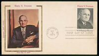 MAYFAIRSTAMPS US FDC 1973 HARRY S TRUMAN COLORANO SILK FIRST