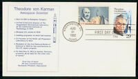 MAYFAIRSTAMPS US FDC 1992 THEODORE VON KARMAN FIRST DAY COVE