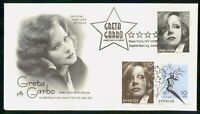 MAYFAIRSTAMPS US FDC 2005 GRETA GARBO FILM STAR JOINT ISSUE