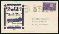 MAYFAIRSTAMPS USS BUMPER 1944 GROTON CONNECTICUT COMMISSIONE
