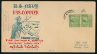 MAYFAIRSTAMPS USS CONNER 1940 RECOMMISSIONED COVER WWG18525