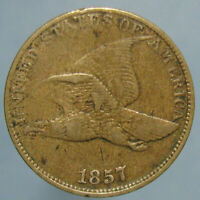 VERY FINE 1857 FLYING EAGLE CENT