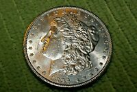 A1260,MORGAN SILVER DOLLAR,1896-P VAM-1F COLLAR CLASH OBV,HIGH GRADE BU