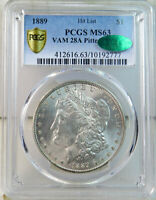 1889 MORGAN DOLLAR PCGS/CAC MINT STATE 63 VAM 28A PITTED REVERSE HITLIST40