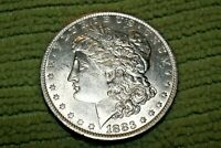 A1358 SELDOM SEEN VAM 10 MORGAN SILVER DOLLAR,1883 O/O BU