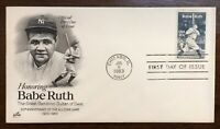 BABE RUTH FIRST DAY COVER 1983 50TH ANNIVERSARY OF 1933 ALL STAR GAME   CHICAGO