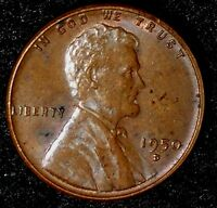 1950-D 1C LINCOLN WHEAT CENT UNC RED-BROWN 16RR0911 70 CENTS SHIPPING