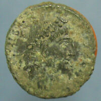 HIGH GRADE UNCLEANED CONSTANS GLORIA EXERCITVS AE 3/4   NICE COIN UNDER THE DIRT