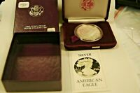 1986 S AMERICAN SILVER EAGLE PROOF ORIGINAL US MINT PACKAGING WITH COA