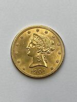 1901 $10 LIBERTY GOLD COIN.  UNCERTIFIED.  NR.