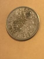 GREAT BRITAIN SIXPENCE 1958 COIN  BRITISH COPPER NICKEL KM90