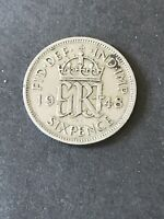 GREAT BRITAIN SIXPENCE 1948 COIN  BRITISH COINAGE COPPER NIC