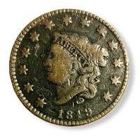 1819 LARGE CENT SMALL DATE