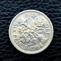 GREAT BRITAIN 6 SIXPENCE 1964