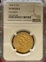 1898 S LIBERTY HEAD  EAGLE $10 GOLD NGC XF DETAILS