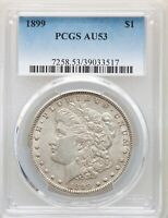 1899 P PCGS AU53 MORGAN SILVER DOLLAR LOW MINTAGE DATE ONLY 330,000 ABOUT UNCIRC