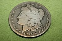 A1545-600,MORGAN SILVER DOLLAR,KEY DATE 1894 P  HARD TO FIND COIN