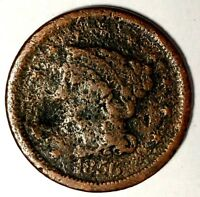 1856-P 1C BRAIDED HAIR LARGE CENT 18ACT0720 $1 SHIPPING