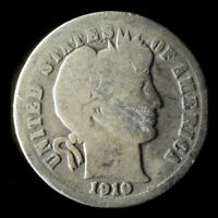 1910-D BARBER 90 SILVER DIME SHIPS FREE. BUY 5 FOR $2 OFF