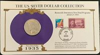 1935 PEACE SILVER DOLLAR - U.S. POSTAL COMMEMORATIVE STAMP SET  3/33C STAMPS