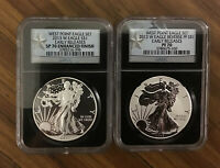 2013 W NGC REVERSE PF70 ENHANCED SP70 EARLY RELEASES SILVER EAGLE WEST POINT SET