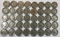 ROLL OF 40 FULL DATE INDIAN HEAD BUFFALO NICKELS. MIXED COMMON DATES 03