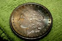 A1532,RAINBOW TONED MORGAN SILVER DOLLAR,1896-P VAM-22
