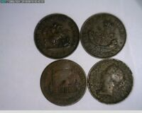 4 CANADIAN HALF PENNY BANK TOKENS OLD PENNY    14S282