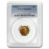 1949-S LINCOLN CENT MINT STATE 66 PCGS RED - SKU213649