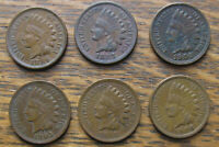 SIX HIGH GRADE CIRCULATED INDIAN HEAD CENTS   1896 1906
