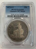 1875 CC TRADE DOLLAR PCGS UNCIRCULATED DETAILS
