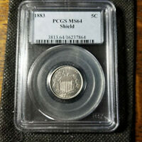 1883 SHIELD NICKEL PCGS MS64 TYPE 2 DESIGN  FINAL YEAR FOR S