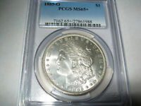 1885 O MORGAN SILVER DOLLAR MINT STATE 65  PCGS