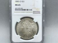 1885- O NGC MINT STATE 65 MORGAN SILVER DOLLAR PREMIUM ORIGINAL COIN