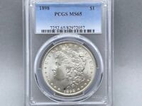 1898 P PCGS MINT STATE 65 MORGAN SILVER DOLLAR PREMIUM COIN  STRIKE AND LUSTER