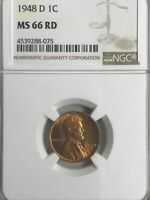 1948-D NGC MINT STATE 66 RD LINCOLN CENT
