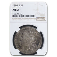 1886-S MORGAN DOLLAR AU-58 NGC - SKU66134