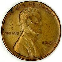 1948-S 1C LINCOLN WHEAT CENT AU 19LT1125 70 CENTS SHIPPING