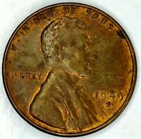 1949-S 1C LINCOLN WHEAT CENT UNC R/B 19LT1128-2 70 CENTS SHIPPING
