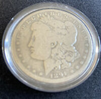PCS EARLY 1891-O MORGAN SILVER DOLLAR 90 US COIN  COIN IN CAPSULE PAPERWORK