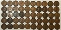 ROLL OF 50 1918 LINCOLN WHEAT CENTS, GOOD TO FINE, MOST GOOD. MG2