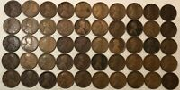 ROLL OF 50 1918 LINCOLN WHEAT CENTS, GOOD TO FINE, MOST GOOD. MG4