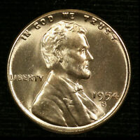 1954-S 1C LINCOLN WHEAT CENT BU 20OR1020-1 70 CENTS SHIPPING