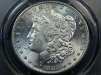 1883-S $1 MORGAN DOLLAR MINT STATE 63 PCGS, BETTER DATE BLAST WHITE