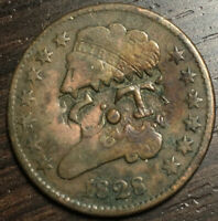 1828 CLASSIC HEAD HALF CENT PUNCHED VERY FINE DETAILS