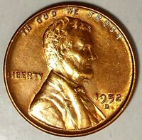 1952-D 1C LINCOLN WHEAT CENT BU RED 18RR0711 70 CENTS SHIPPING